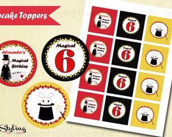 Magic Birthday Cupcake Toppers