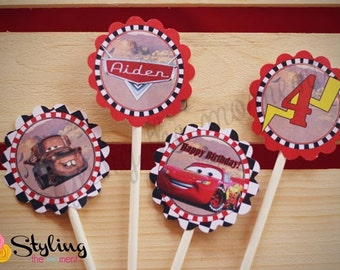 Disney Cars Cupcake Toppers with FREE Wrappers