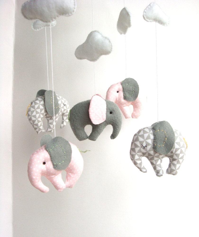 Elephant Baby Mobile Crib Decor New Born