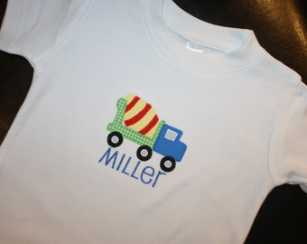 Personalized Shirt with Cement Mixer Applique