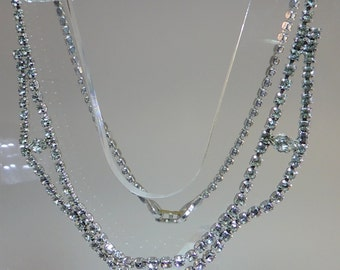 Vintage Jewelry Crystal Rhinestone Necklace