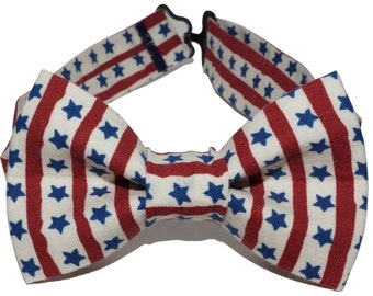 Bow Tie - American Flag Striped Bowtie