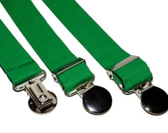 Suspenders - Green Adjustable Suspenders