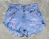 TAKE 35% OFF Faded Purple High Waisted Shorts
