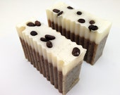 Unscented Java Coffee Cold Process Soap Bar Shea Butter Enriched Vegan