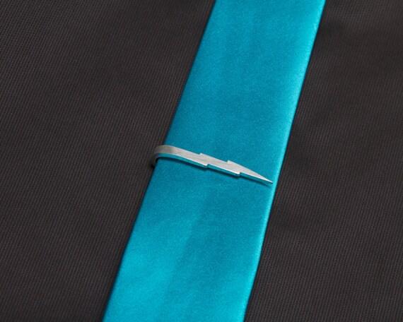 Lightning Bolt Skinny Tie Clip