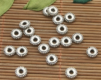 160pcs dark silver tone 6mm spacer beads (h3794 or H0144)