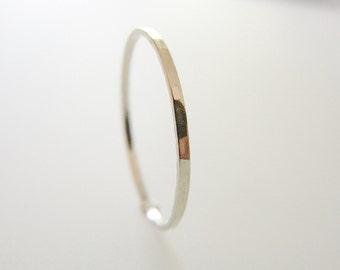 Modern, minimalist ring. Skinny ring. Stacking ring. Silver ring.