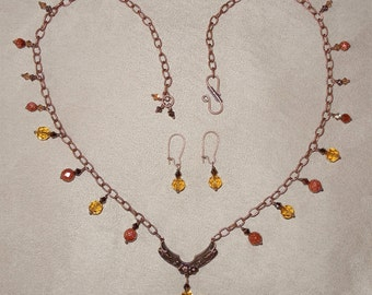 Shevaun - Necklace and Earrings Set