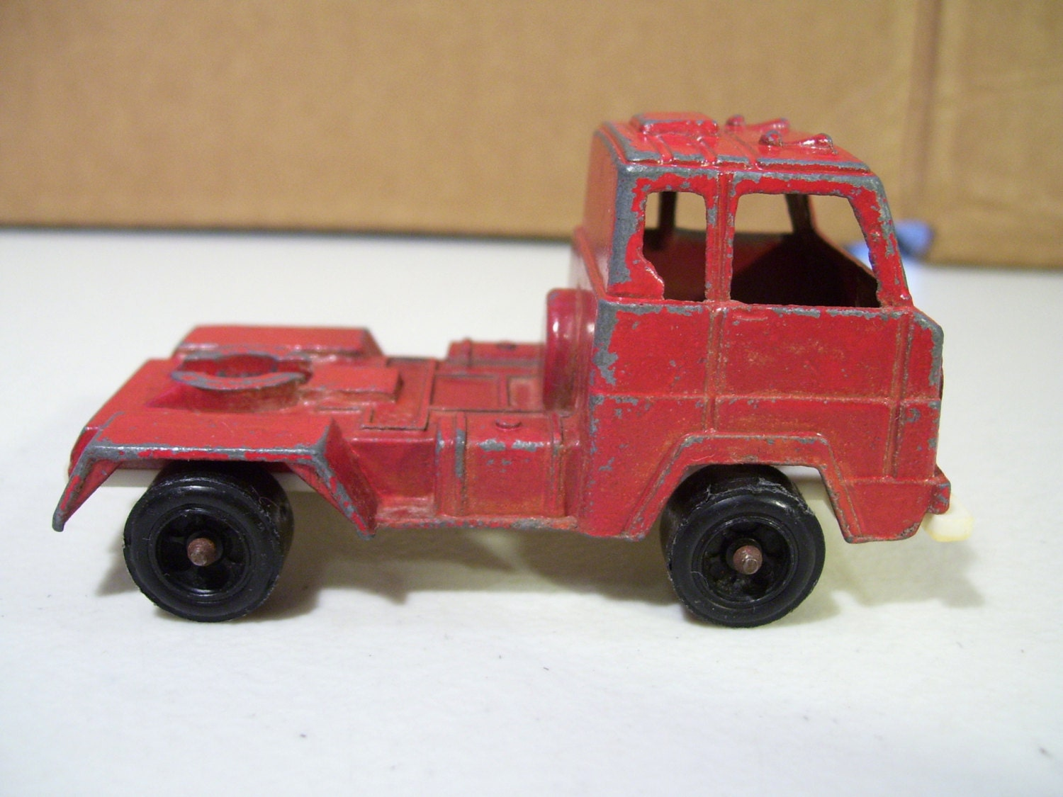 Vintage Tootsietoy Red Semi Diecast Truck Made In By