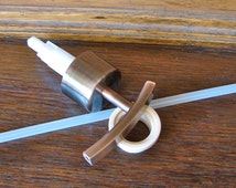 DIY Heavy Duty Brushed Copper Pump and Collar To Make Your Own Mason Jar LId For Soap or Lotion