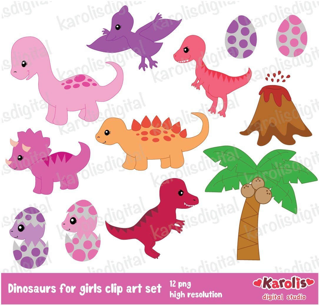free girl dinosaur clipart - photo #23