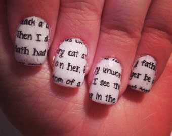 Romeo & Juliet Quotes Nail Wraps