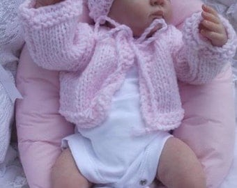 baby jacket /hat /shoe/ set ...  lovely set for baby or reborn