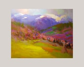 Landscape Painting - Spring Landscape Painting - Colorful Canvas Art - Oil Painting by Yuri Pysar - Pysar