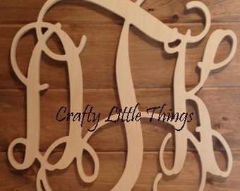 Wooden Monogram Sale - 18 INCH - FAST SHIPPING!