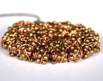 Handmade Copper-Iron Bead