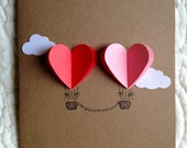 Couple Heart Hot Air Balloon Card - theadoration