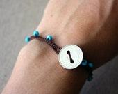 SALE!! Crocheted bracelet with Honduran coin