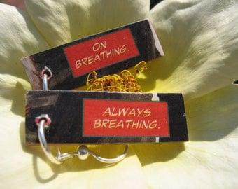 Comic Earrings - Breathing