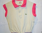vntg LACOSTE Tennis Crop Top size SMALL