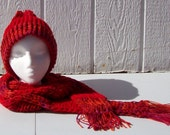 Firey Valentine Hat and Scarf Set