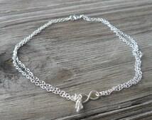 Sterling Silver Infinity Anklet, Sterling Silver Infinity Ankle Bracelet, Sterling Silver Infinity bracelet, Donna J Jewelry