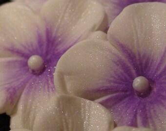 EDIBLE  30 Sugar Gumpaste Purple  Blossom Flower
