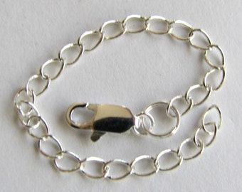 Extender chain, 4 inch  extender, Necklace Extender, Bracelet Extender, Silver, Copper, Gold, Antique Brass.  soldered link, custom.