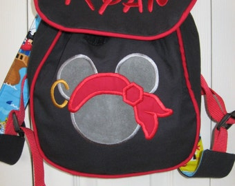 Pirate Mickey Personalized Toddler Backpack