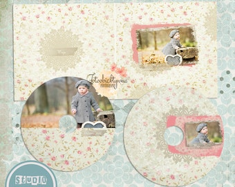 cd/dvd labels and  Case,  cd/dvd Labels, Rosie , psd templates - INSTANT DOWNLOAD
