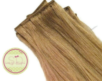 Human Hair Blonde Extensions 14 Inch Long Blonde Double Weft Thick Human Hair Extensions In Stock READY TO SHIP