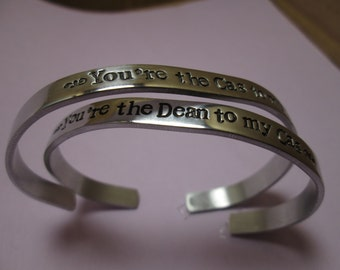 Your the Dean my Cas  Your the Cas to my Dean 2 bracelets