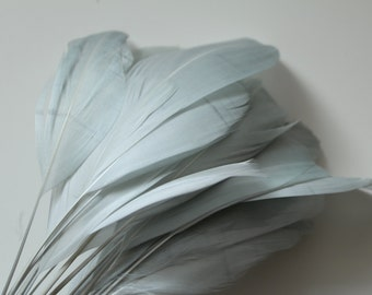 """Grey Stripped Goose Nagoire Feathers 4""""-6"""", 10 feathers"""
