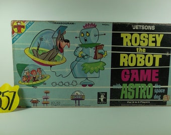 1962 Transogram Rosie The Robot and Astro Game