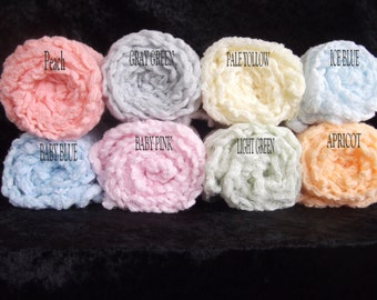 Hand Dyed  Set of six Photography cheesecloth Baby Wraps.Newborn Photo Props