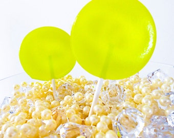 Key Lime Pie Gourmet Lollipops - Pick Your Size - Luxe Lollies - Key West Theme - Summer Party Favors