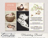 7x5 Easter, Spring Photography Marketing board - PSD Newsletter template,INSTANT DOWNLOAD