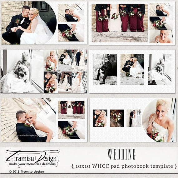 10x10 wedding album templates wedding photobook photoshop psd for Wedding photo album templates in photoshop
