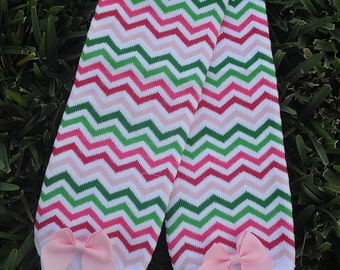 Spring Chevron Leg Warmers- customize available