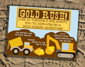 Party Invitation - Gold Rush Collection
