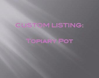 Topiary clay pot