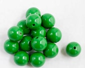 1 Inch Green Wood Beads-Jewelry Supply -Gift for Mom - Eco-Friendly Supply -Green Wood Beads - WoodBeJewels