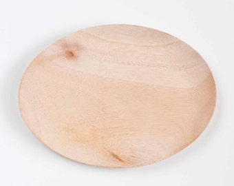 Unfinished Wood Plate - Oval plate - Unfinished wood Plate