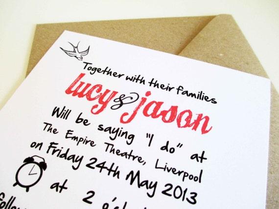 Rockabilly Wedding Invitation Templates with beautiful invitations example