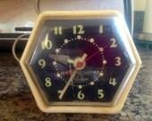 SALE-Vintage 1960's GE Electric Telechron Alarm Clock