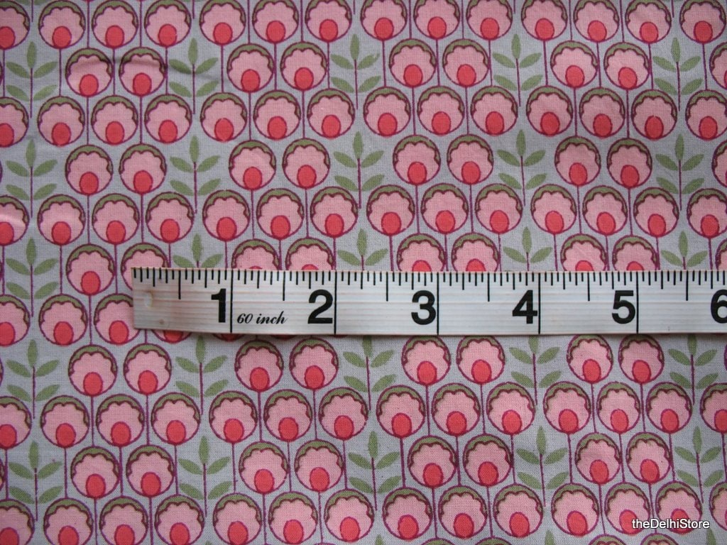 Floral print pure cotton nursery fabric by the by for Floral nursery fabric