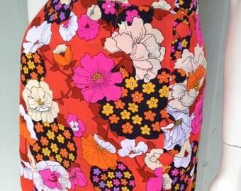1970's Maxi Skirt, Bright Beautiful Boho Chic