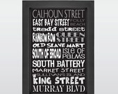 Charleston, Charleston, SC, Charleston Art, Digital Download, Subway Art, Black, White, Print