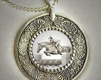 Horse Jumping Pendant